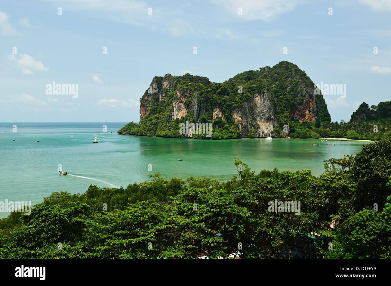 Railay East Bay, Rai Leh (Railay), Andaman Coast, Krabi Province, Thailand, Southeast Asia, Asia - Stock Image