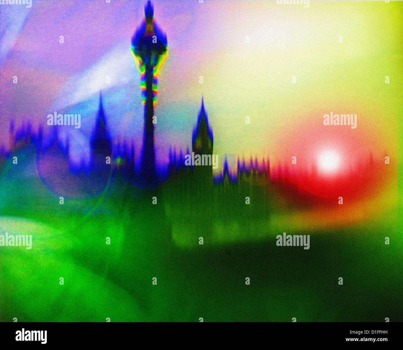 DIGITAL ART: London - Stock Image