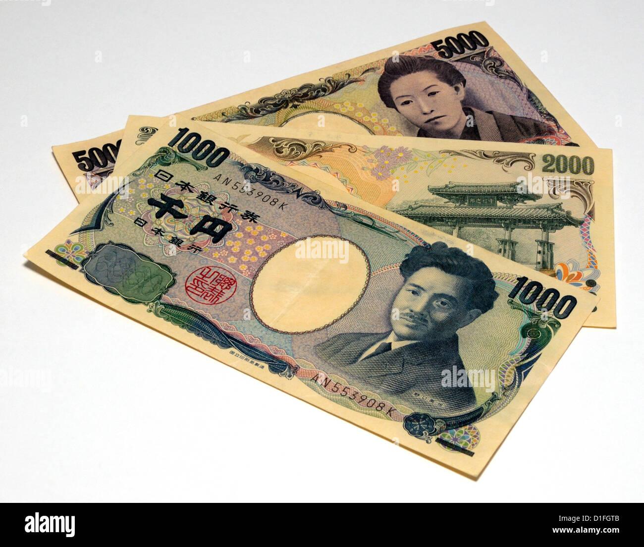 Japanese Bank Notes - Stock Image