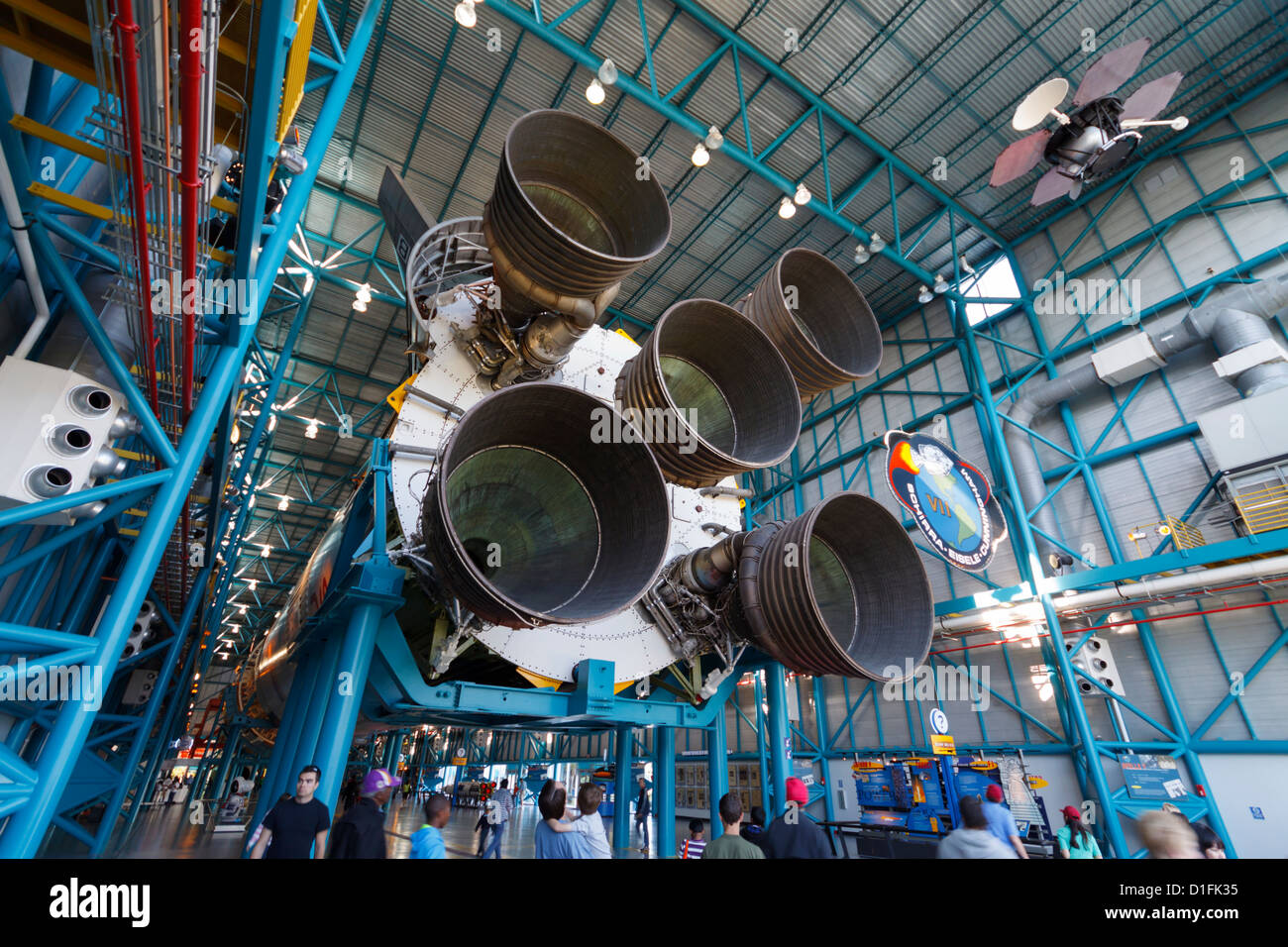 Nasa Rocket Engines Stock Photos Images Saturn V F1 Engine Diagram A View Of The First Stage On Mighty Image