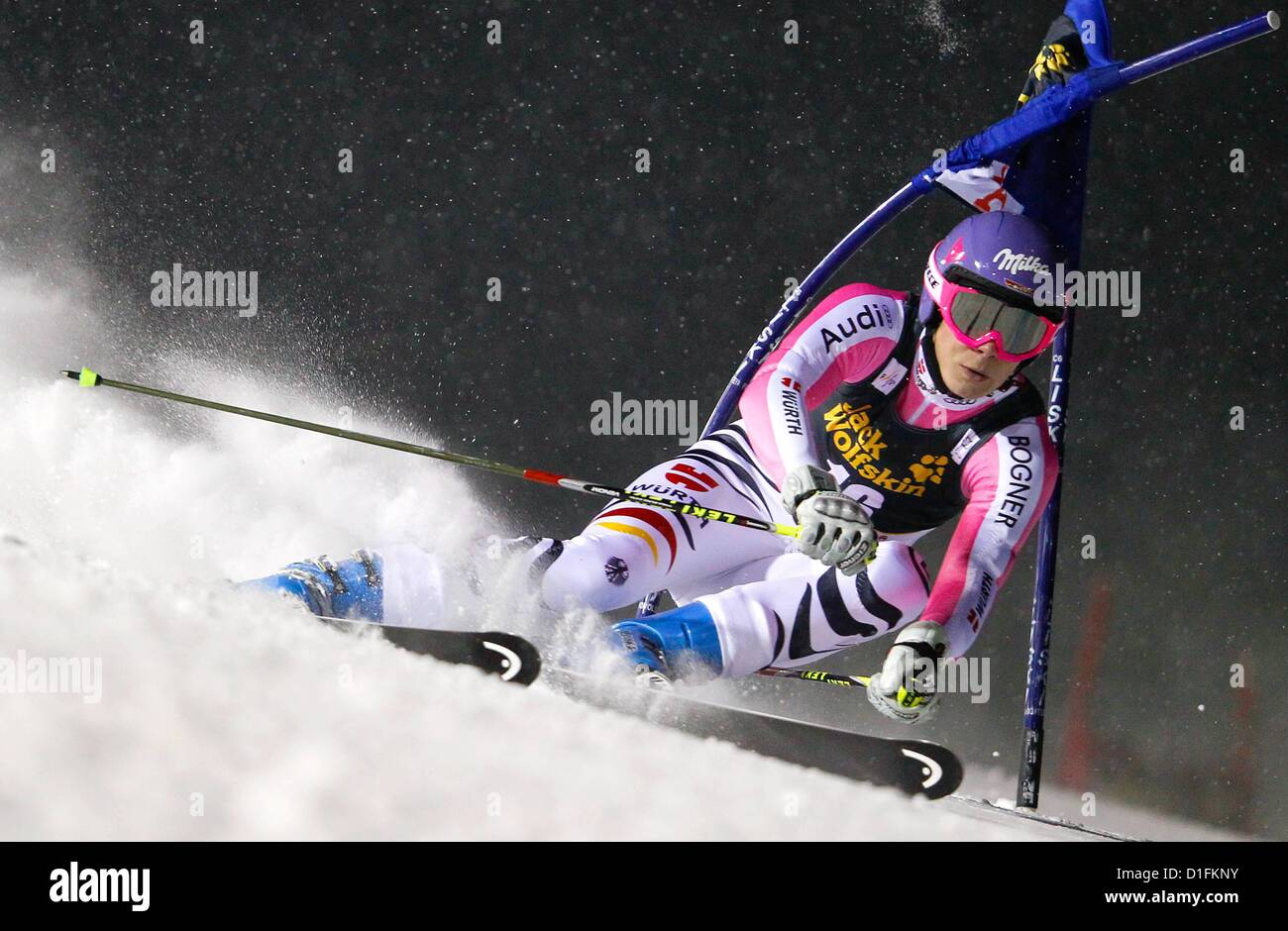 19.12.2012. Aare, Sweden.  FIS World Cup Giant slalom for women Picture shows Mary  Riesch ger  World Cup 2013 - Stock Image