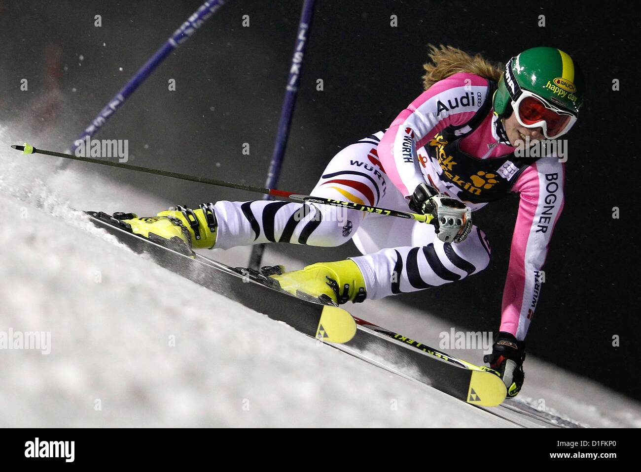 19.12.2012. Aare, Sweden.  FIS World Cup Giant slalom for women Picture shows Lena Duerr ger  World Cup 2013 - Stock Image