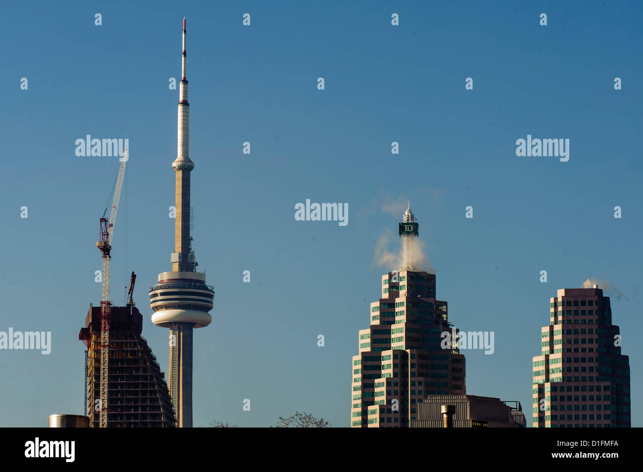 The Council on Tall Buildings and Urban Habitat is reporting that Toronto tops the rest of the Western World in - Stock Image