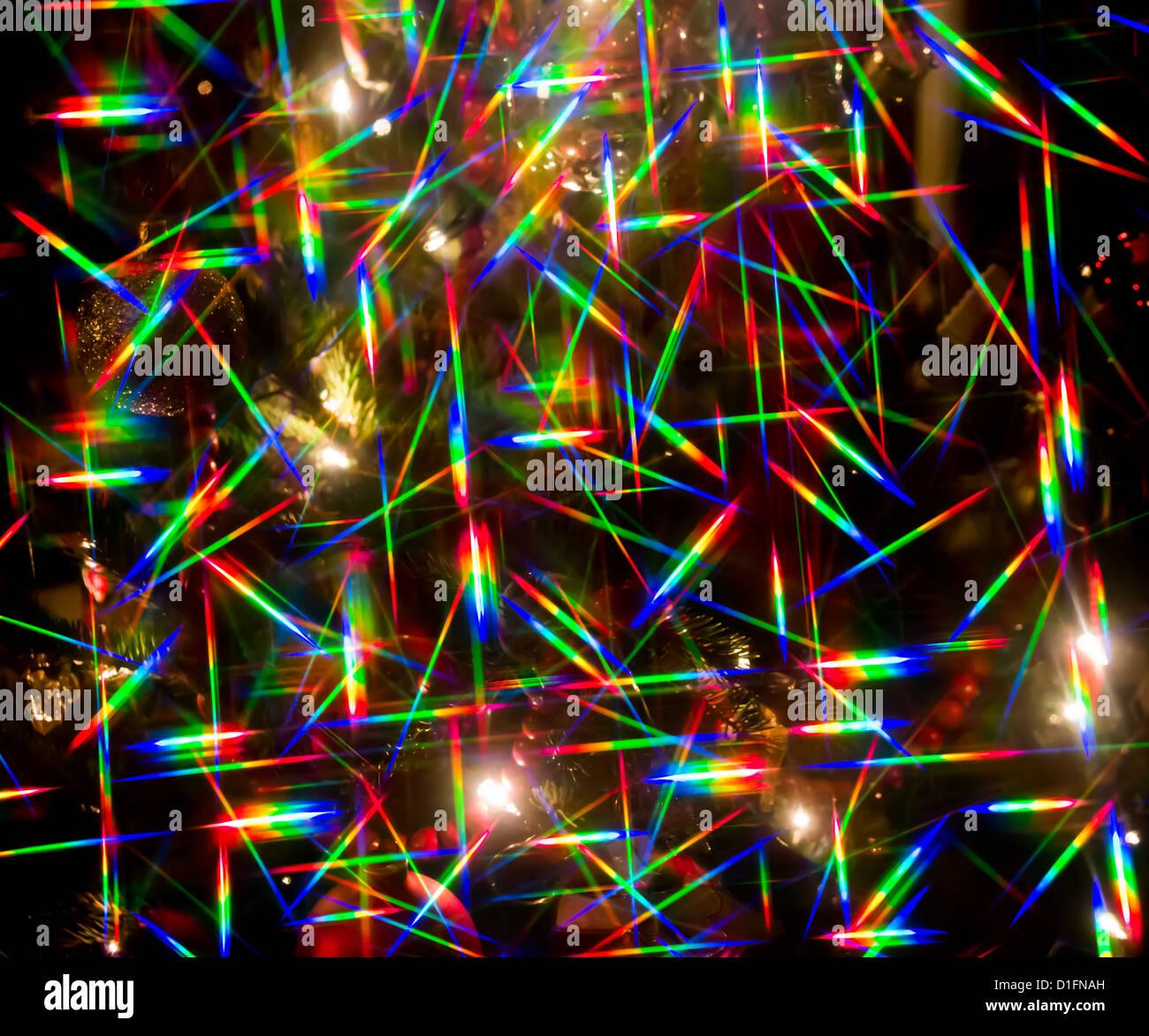 Abstract Christmas lights - Stock Image