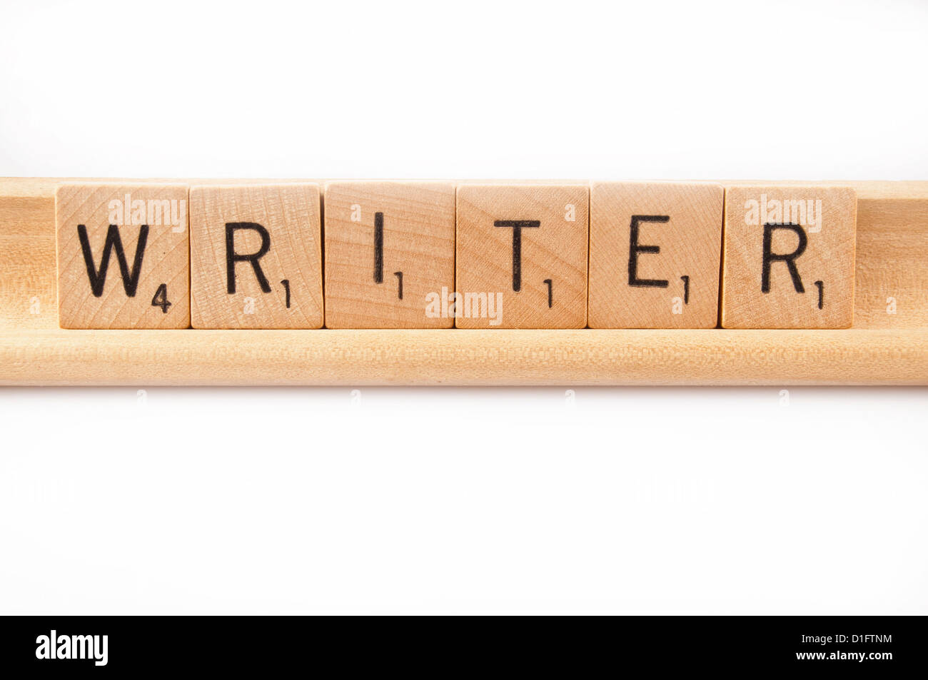 word writer spelled with scrabble tiles - Stock Image