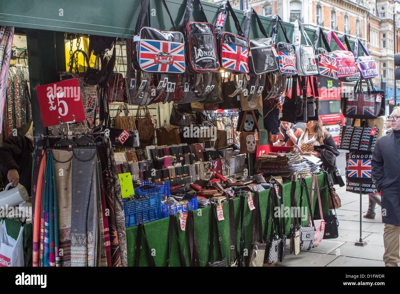 Oxford Street souvenir stall - Stock Image