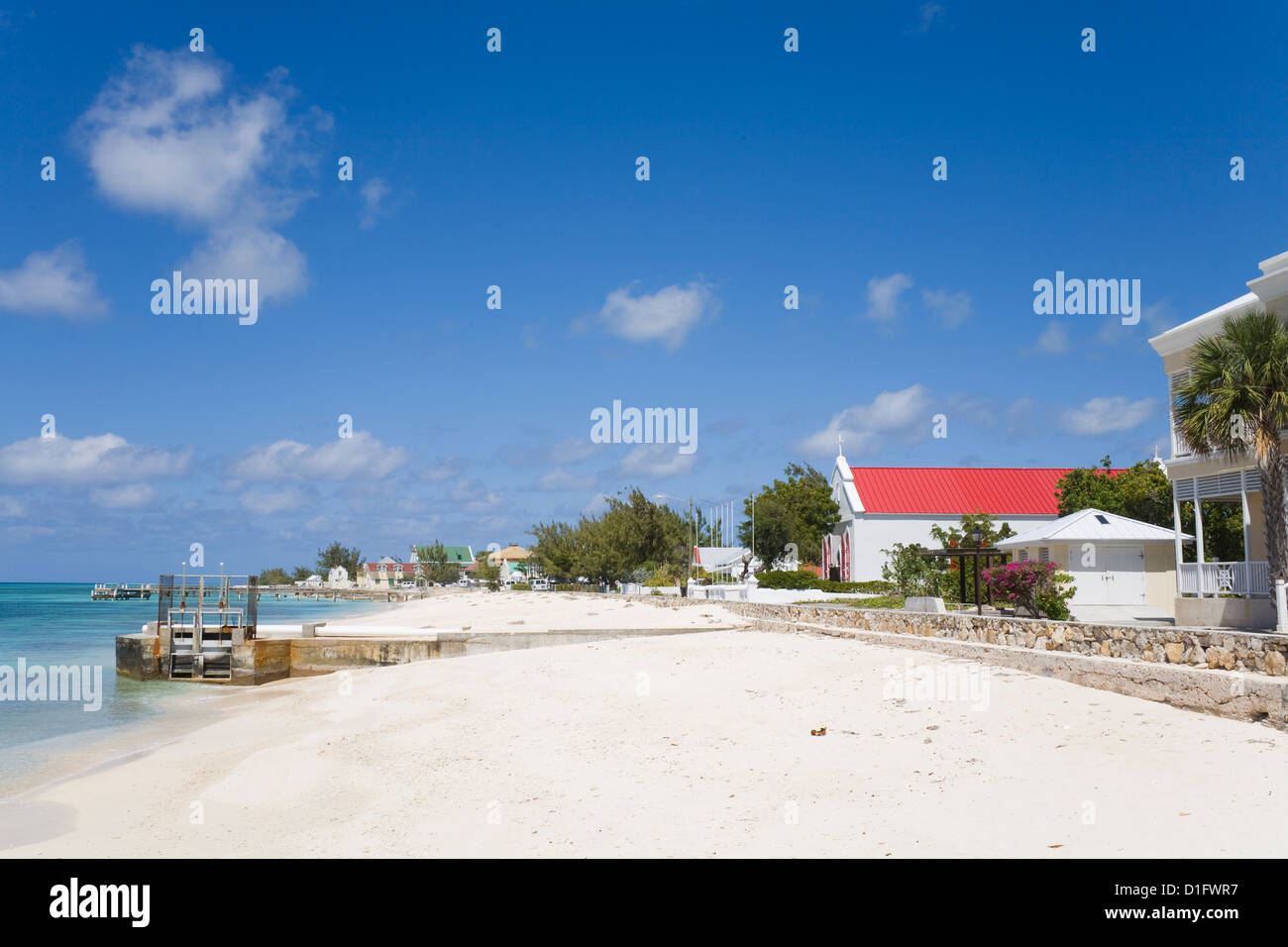 St. Mary's Anglican Church, Cockburn Town, Grand Turk Island, Turks and Caicos Islands, West Indies, Caribbean, - Stock Image