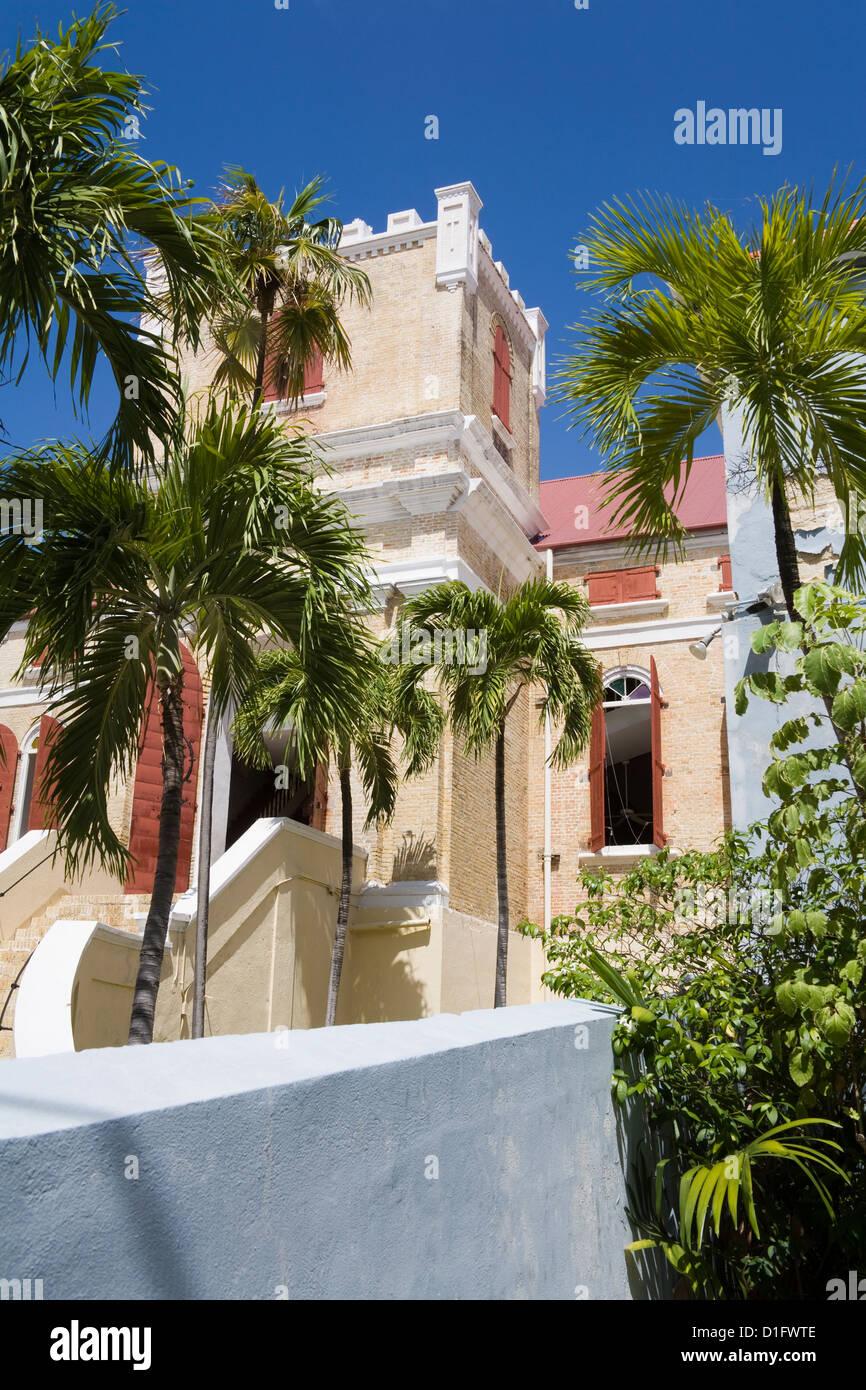 Frederick Lutheran Church, Charlotte Amalie City, St. Thomas Island, U.S. Virgin Islands, West Indies, Caribbean - Stock Image