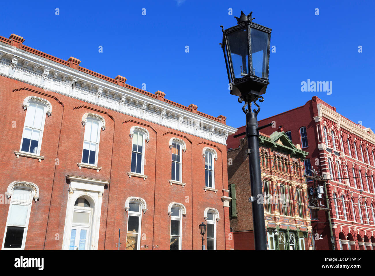Historic Strand District, Galveston, Texas, United States of America, North America - Stock Image