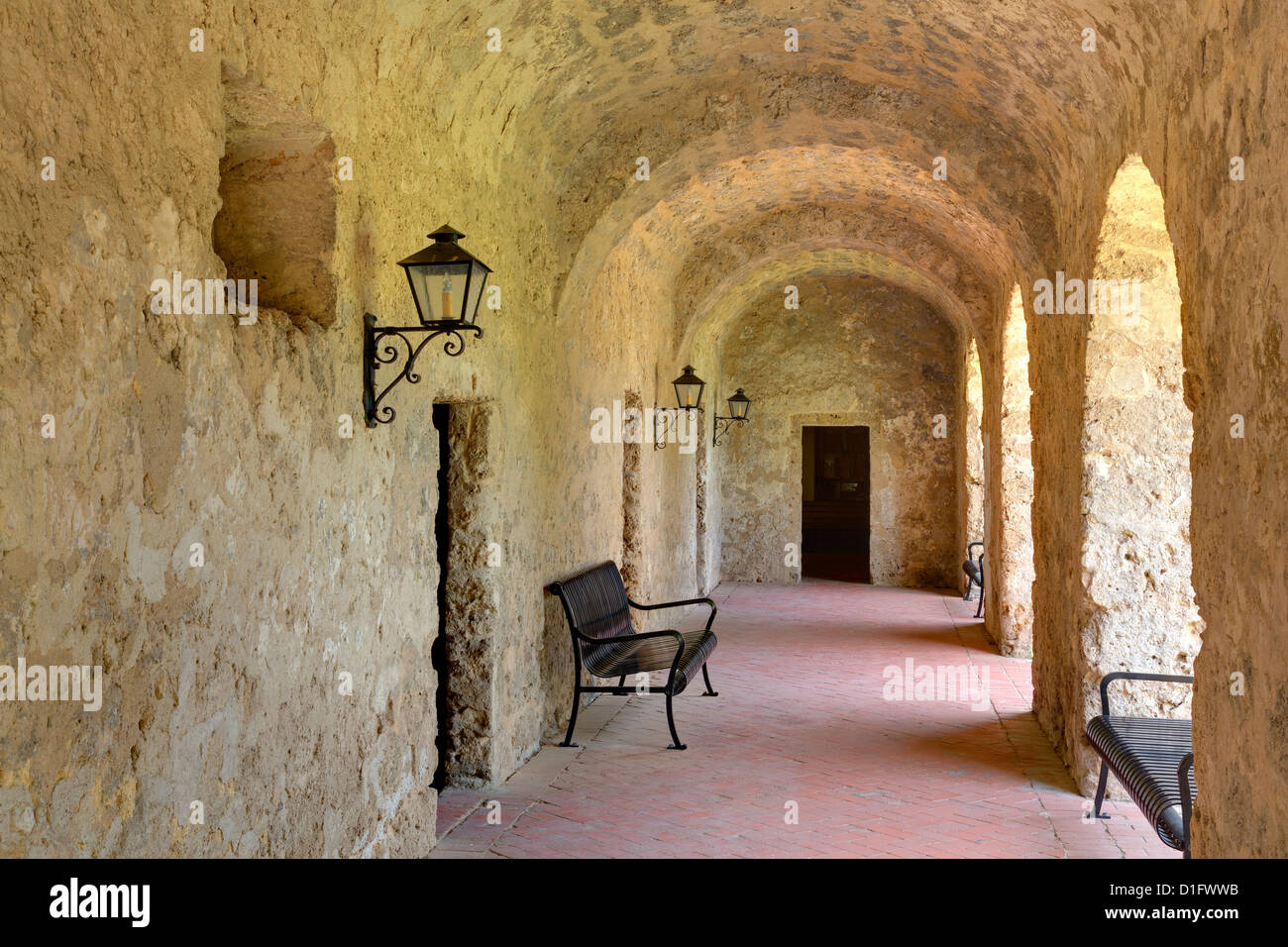 Mission Concepcion, San Antonio, Texas, United States of America, North America - Stock Image