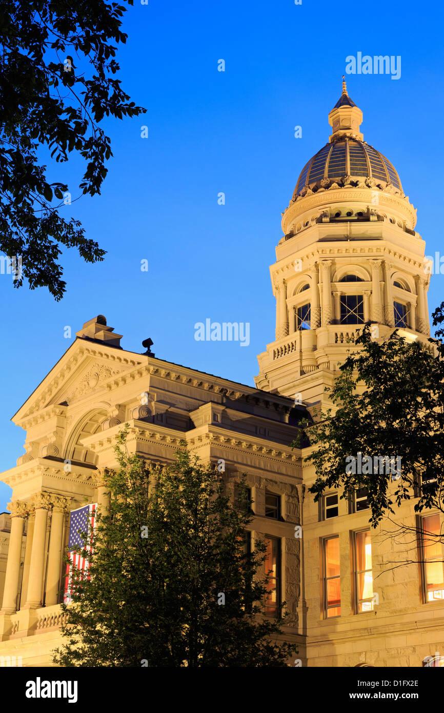 State Capitol, Cheyenne, Wyoming, United States of America, North America Stock Photo