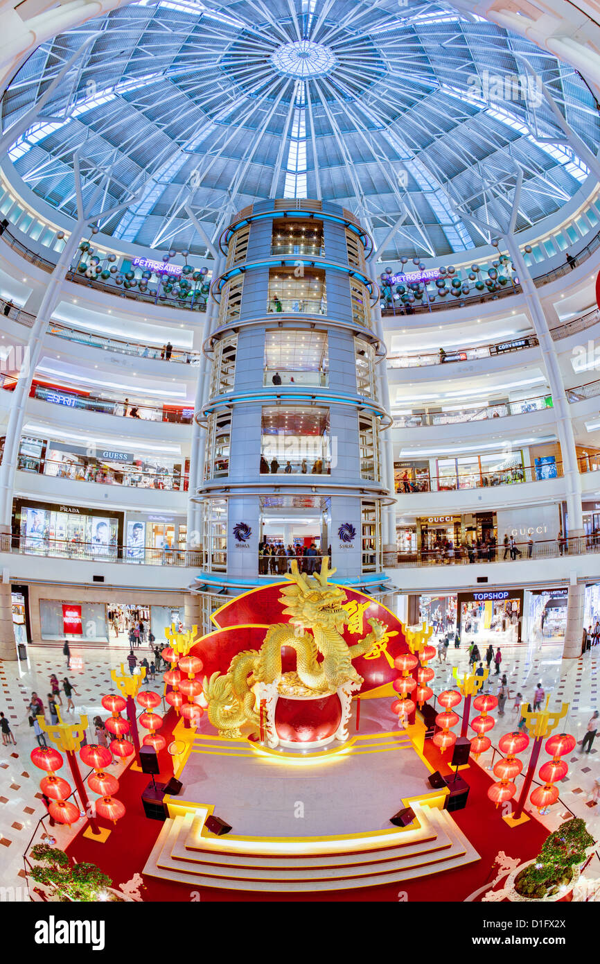 Interior of a modern shopping complex at the foot of the Petronas Towers, Kuala Lumpur, Malaysia, Southeast Asia, Stock Photo
