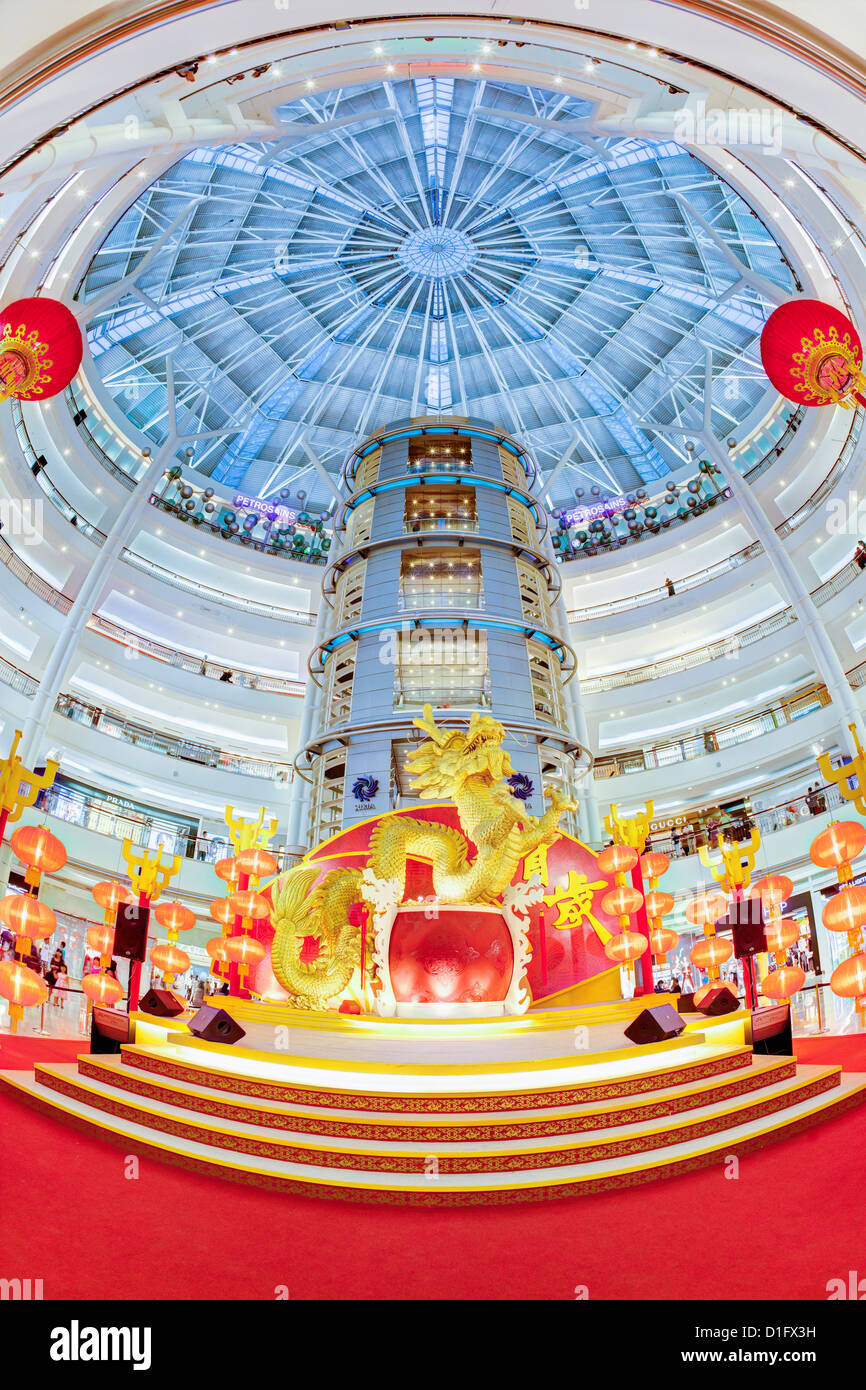 Interior of a modern shopping complex at the foot of the Petronas Towers, Kuala Lumpur, Malaysia, Southeast Asia, Asia Stock Photo