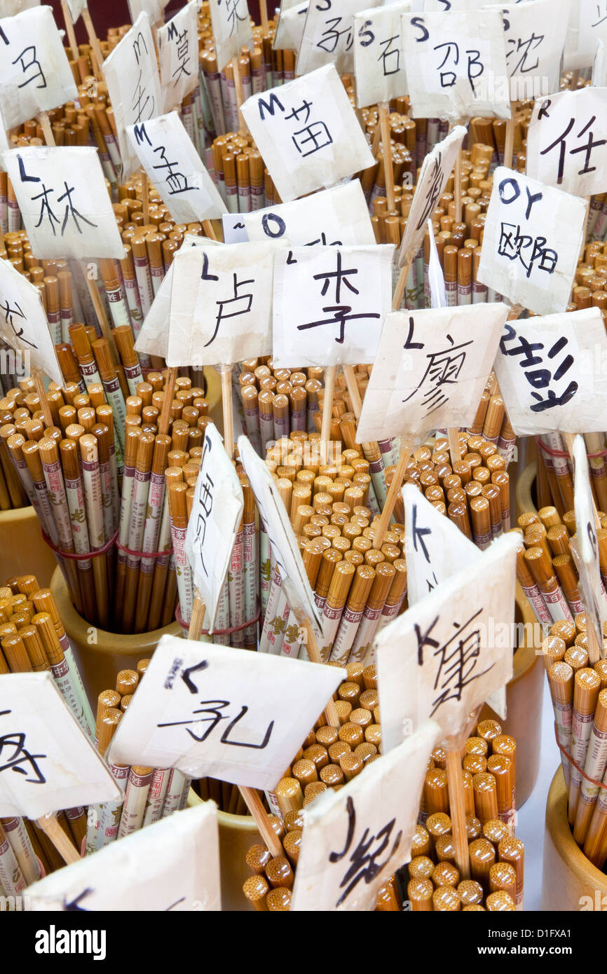 Chopsticks for sale in Chinatown market, Temple Street, Singapore, Southeast Asia, Asia - Stock Image