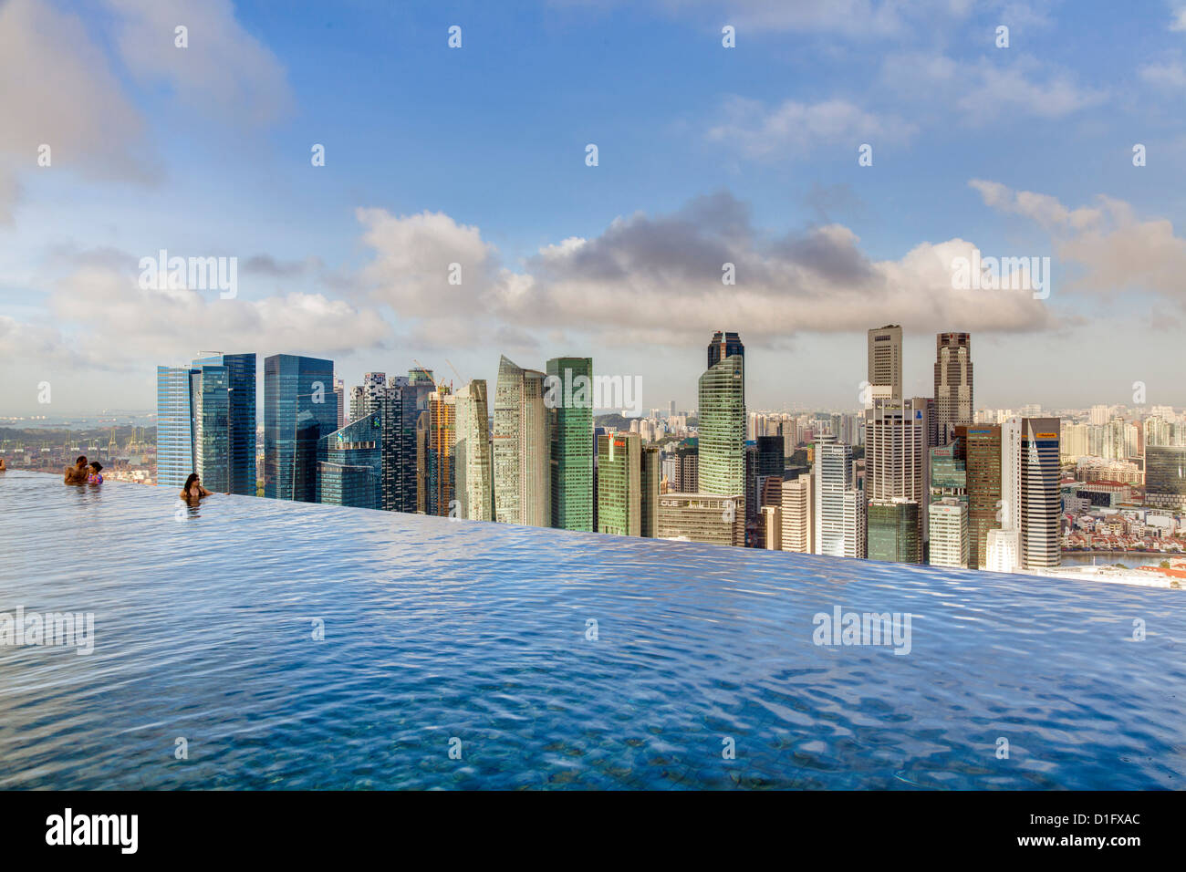 Sands Skypark Infinity Swimming Pool On The 57th Floor Of Marina Bay Stock Photo 52595716 Alamy