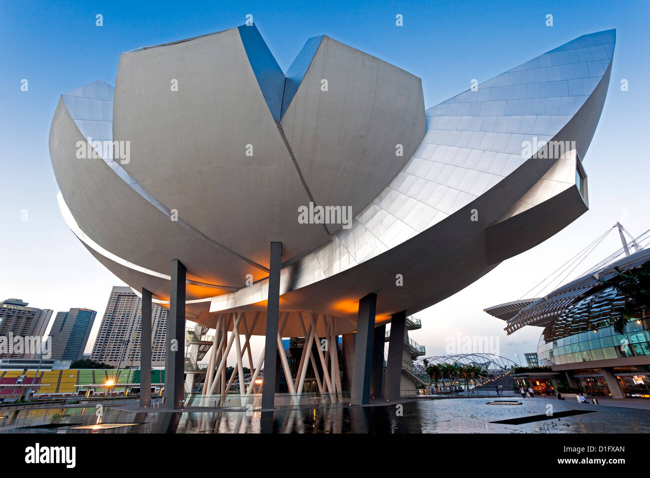 Art Science Museum, Marina Bay, Singapore, Southeast Asia, Asia - Stock Image