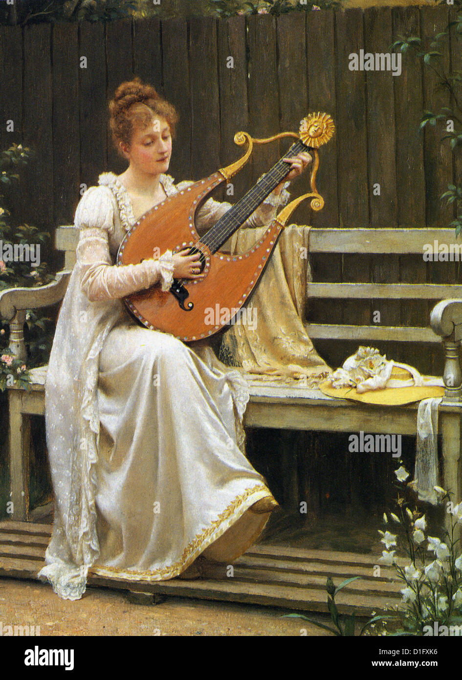 EDMUND LEIGHTON (1853-1922) English artist - 'Con Amore' painted in 1900 - Stock Image