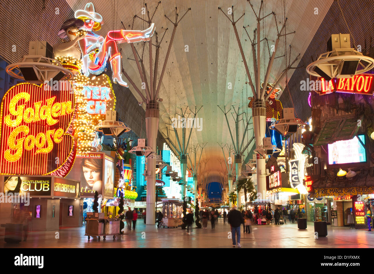 Fremont Street Experience, Las Vegas, Nevada, United States of America, North America - Stock Image