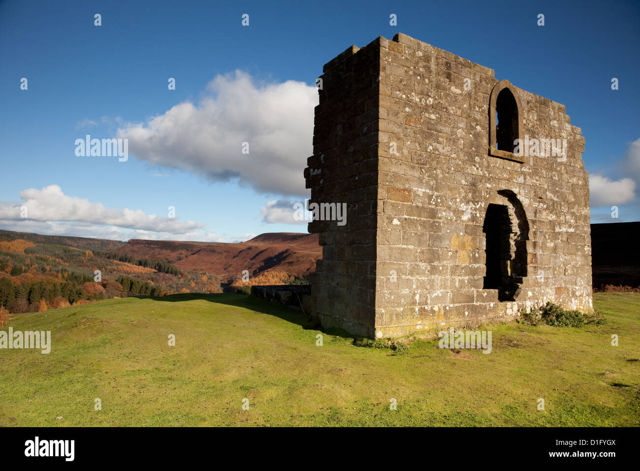 Skelton Tower overlooking Newton Dale in the North Yorkshire Moors - Stock Image