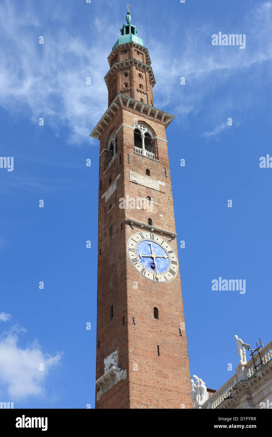 Palladian belltower, Vicenza, Veneto, Italy, Europe - Stock Image