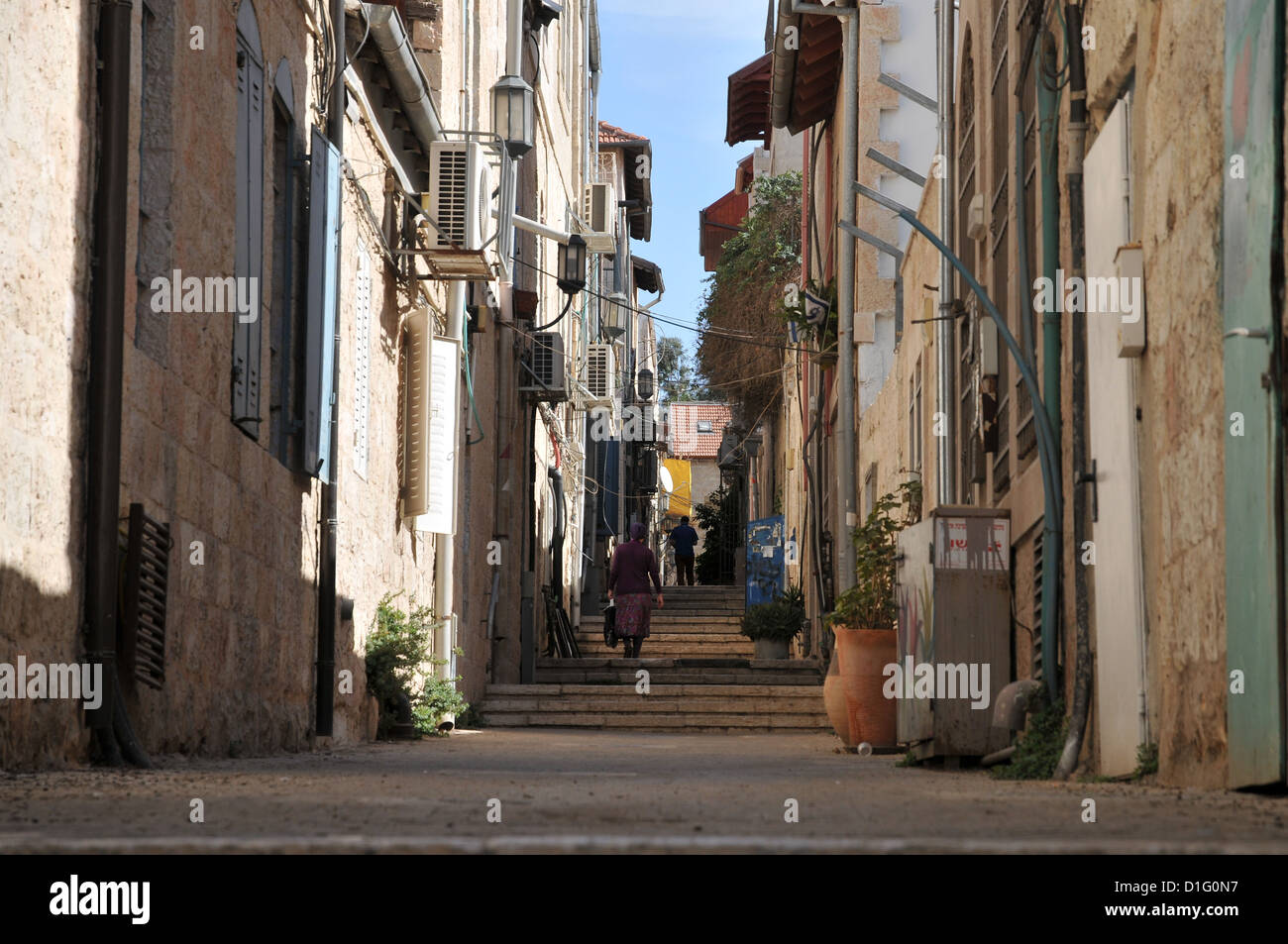 Israel, West Jerusalem, Machane Yehuda neighbourhood - Stock Image
