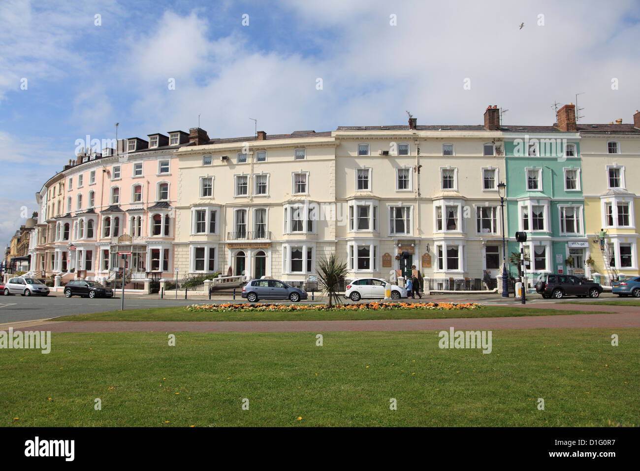 Colourful architecture, Llandudno, Conwy County, North Wales, Wales, United Kingdom, europe - Stock Image