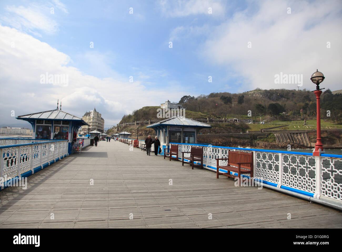 The Pier, Llandudno, Conwy County, North Wales, Wales, United Kingdom, Europe Stock Photo