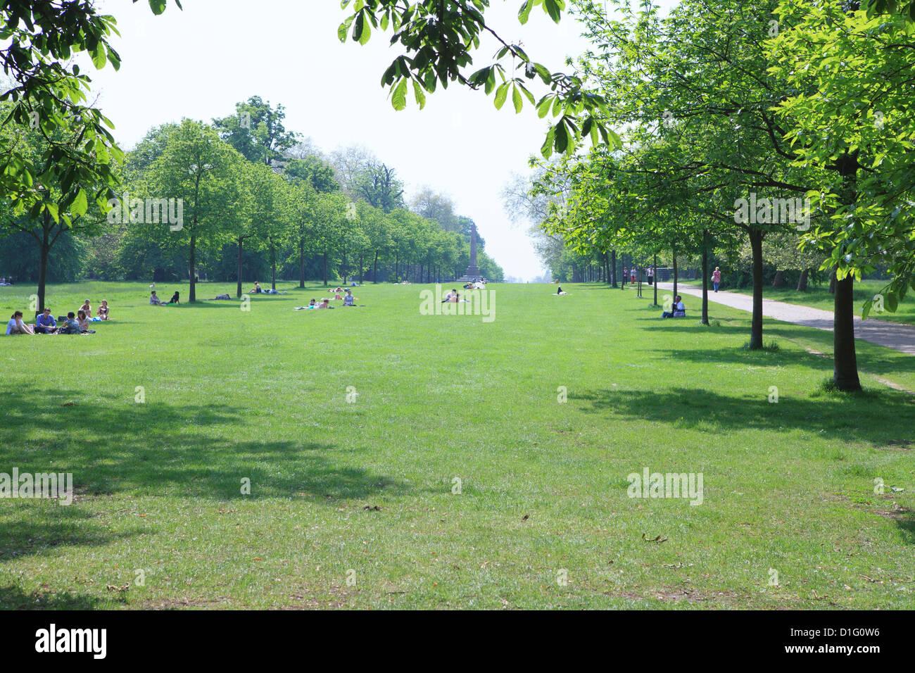 Kensington Gardens, London, England, United Kingdom, Europe - Stock Image