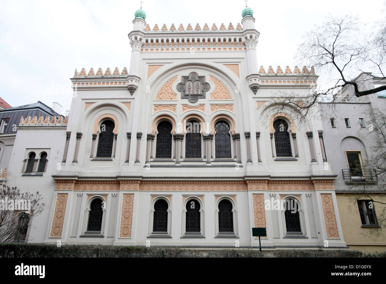 The Spanish Synagogue built in 1868, Prague, Czech Republic, Europe - Stock Image