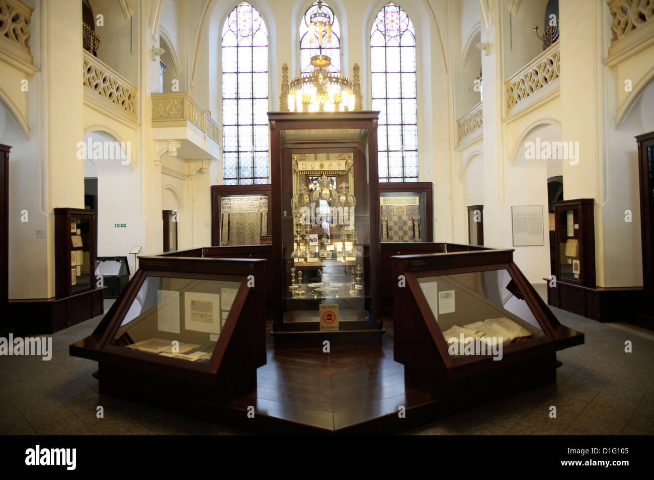The Maisel Synagogue is currently used by the Jewish Museum as an exhibition venue and depository, Prague, Czech - Stock Image