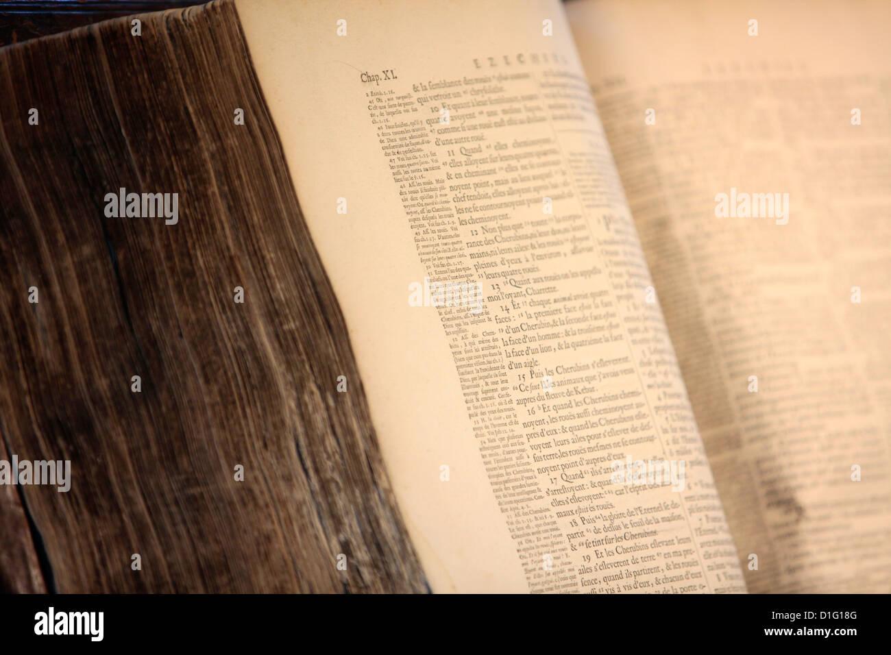 Old Bible, Paris, France, Europe - Stock Image