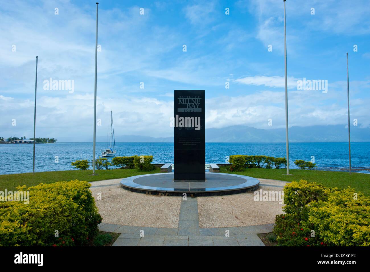 War Memorial in Milne Bay, Alotau, Papua New Guinea, Pacific - Stock Image