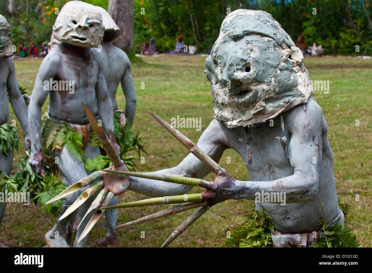 Mudman tribe celebrating the traditional Sing Sing in Paya  in the Highlands, Papua New Guinea, Melanesia, Pacific - Stock Image