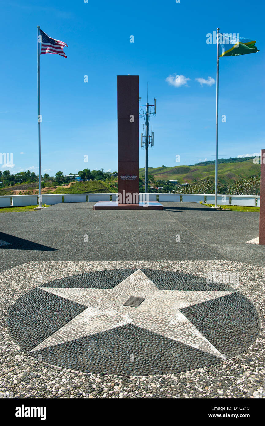 US War Memorial on the Skydrive over Honiara, capital of the Solomon Islands, Pacific - Stock Image