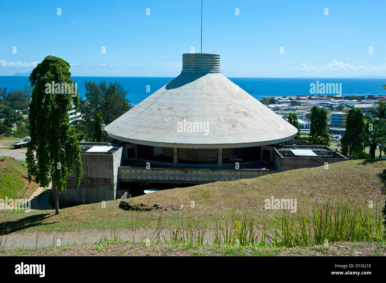 The National Parliament, Honiara, capital of the Salomon Islands, Pacific - Stock Image