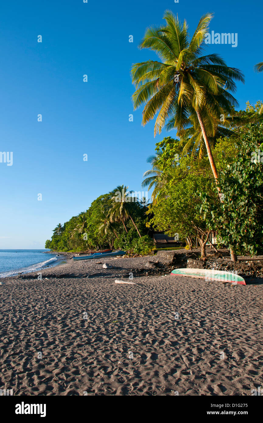 Beach on Savo Island, Solomon Islands, Pacific - Stock Image