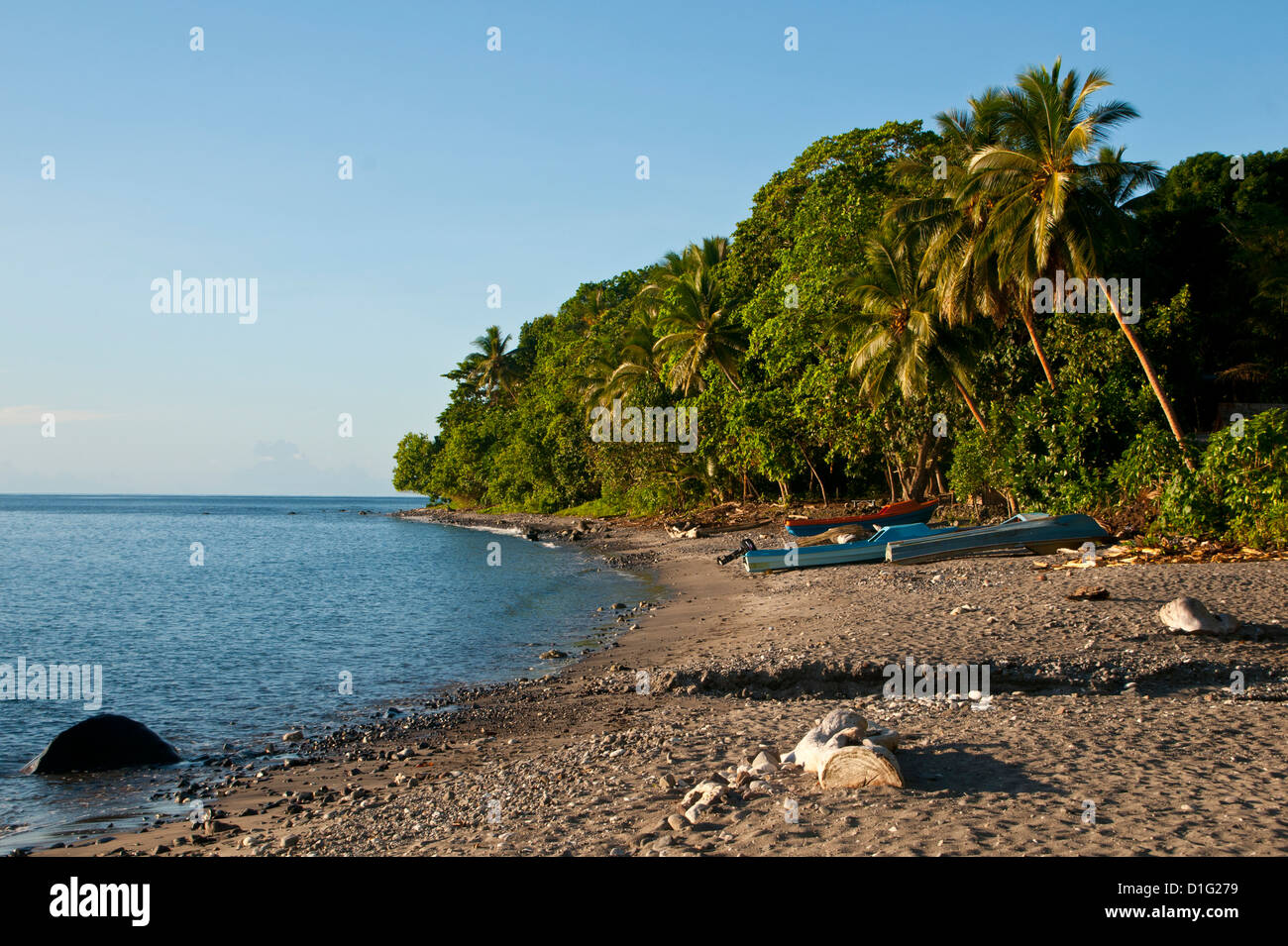 Beach on Savo Island, Solomon Islands, Pacific - Stock Image
