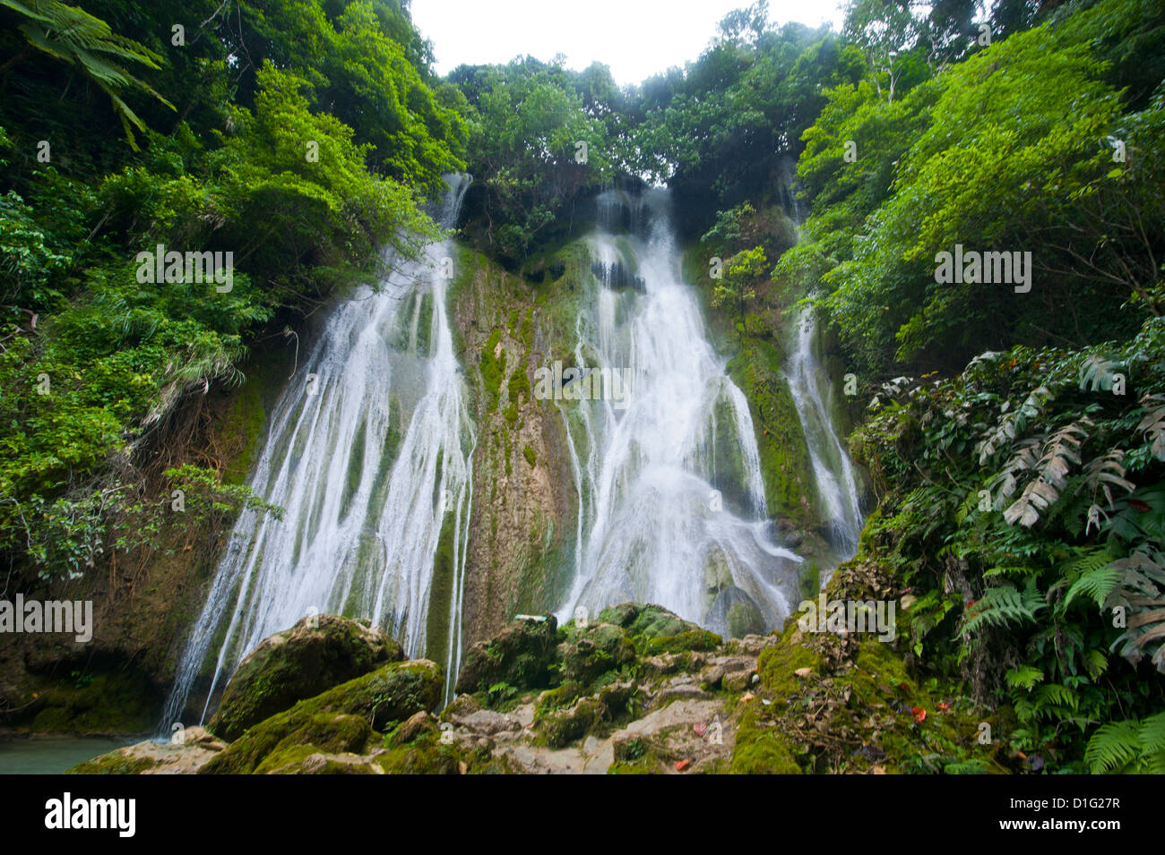 Beautiful Mele-Maat cascades in Port Vila, Island of Efate, Vanuatu, South Pacific, Pacific - Stock Image