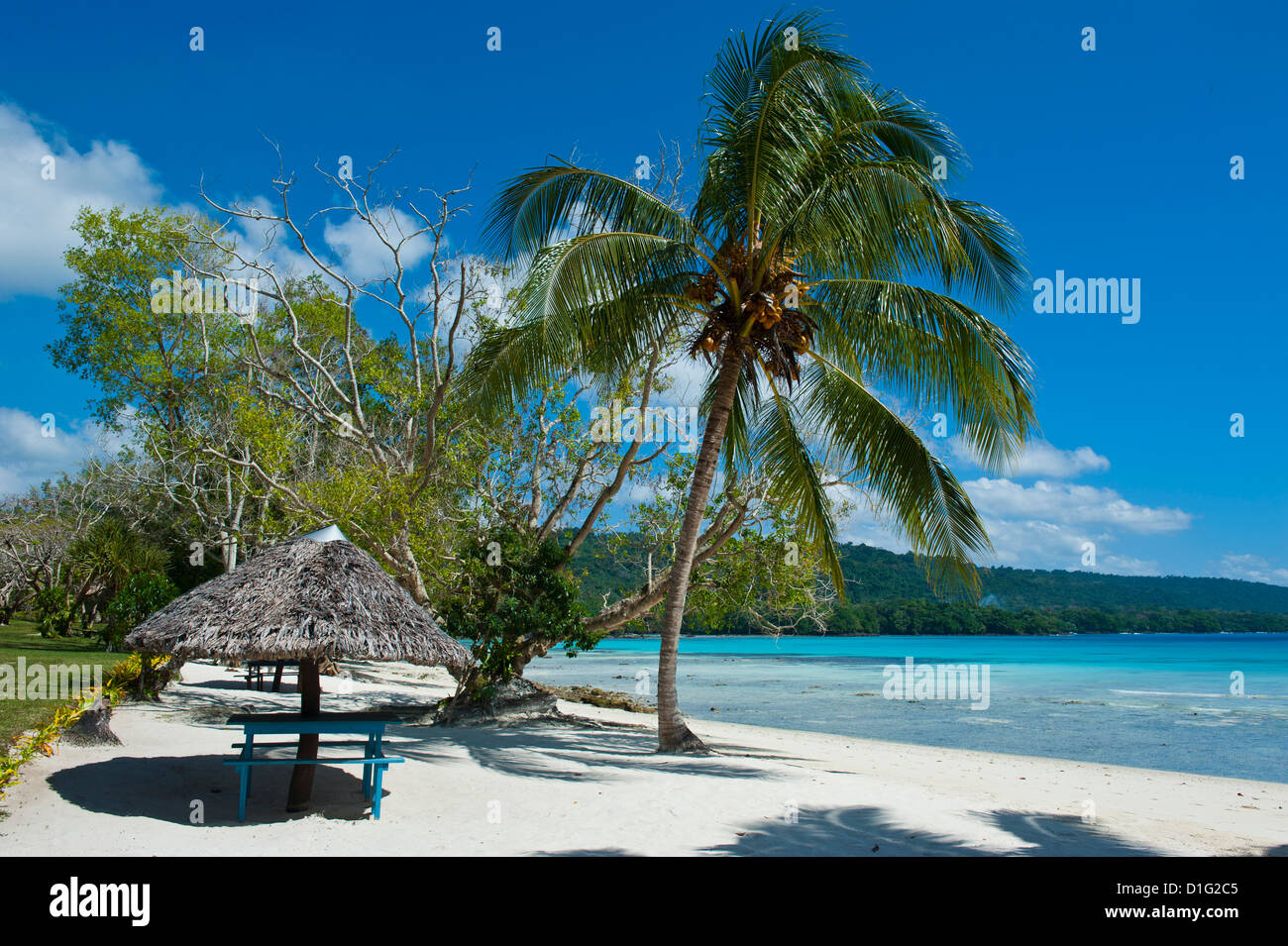 Beach Hut At Champagne Beach Island Of Espiritu Santo Vanuatu Stock Photo Alamy