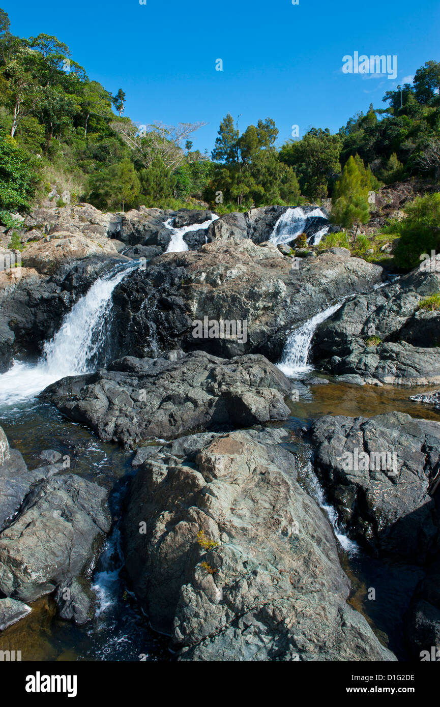 Waterfalls of Ciu on the east coast of Grande Terre, New Caledonia, Melanesia, South Pacific, Pacific - Stock Image