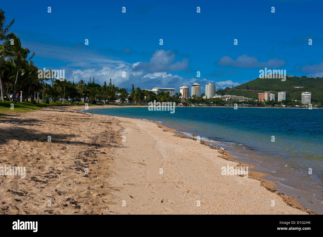Waterfront and beach in Noumea, New Caledonia, Melanesia, South Pacific, Pacific - Stock Image