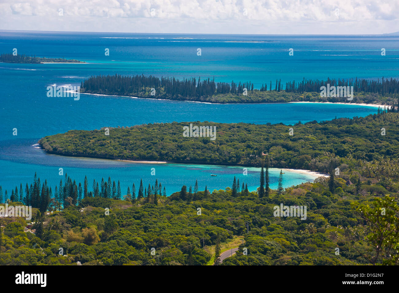 View over the Ile des Pins, New Caledonia, Melanesia, South Pacific, Pacific - Stock Image