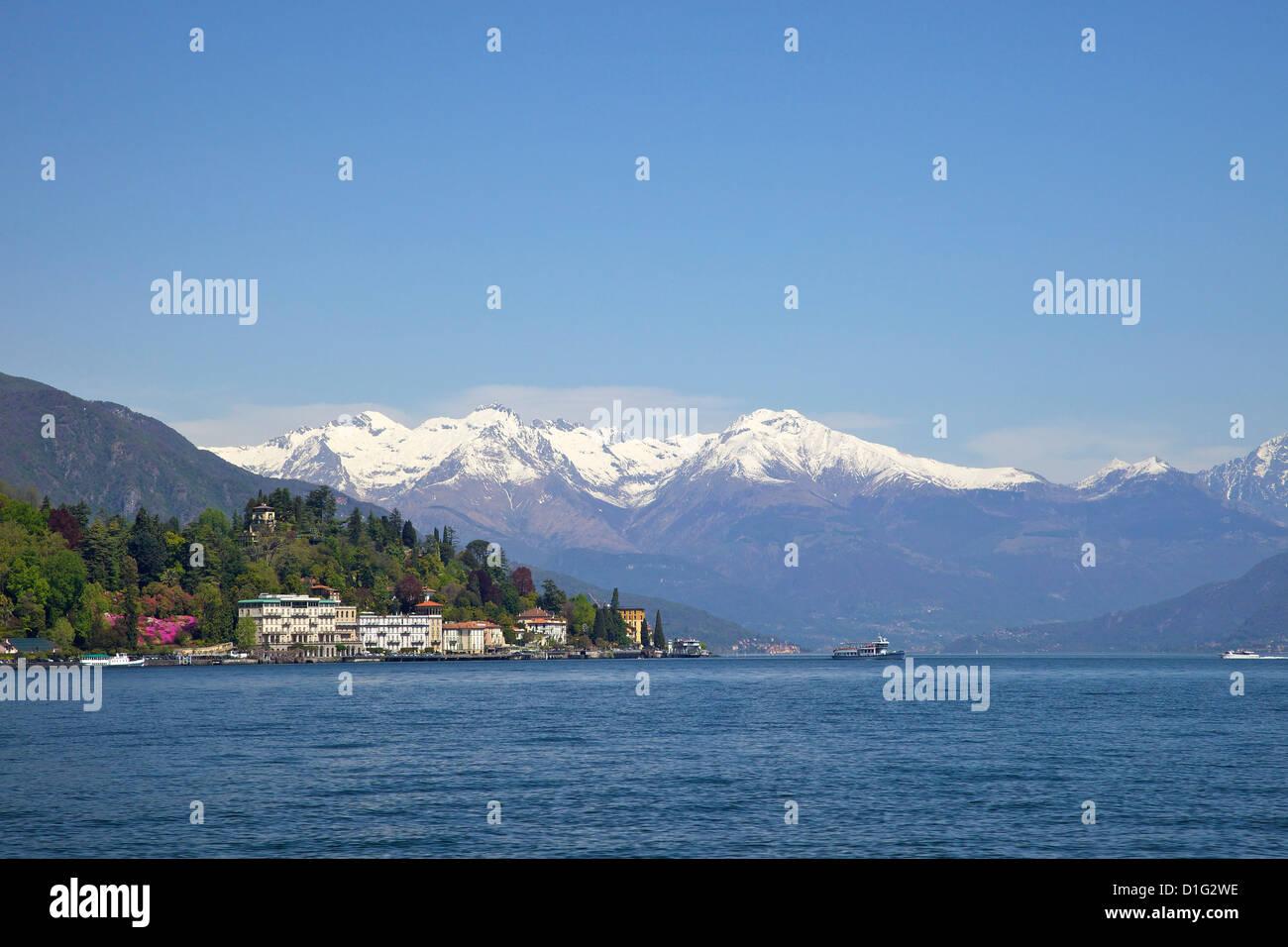 Grand Hotel, Cadenabbia in spring sunshine, Lake Como, Lombardy, Italian Lakes, Italy, Europe - Stock Image