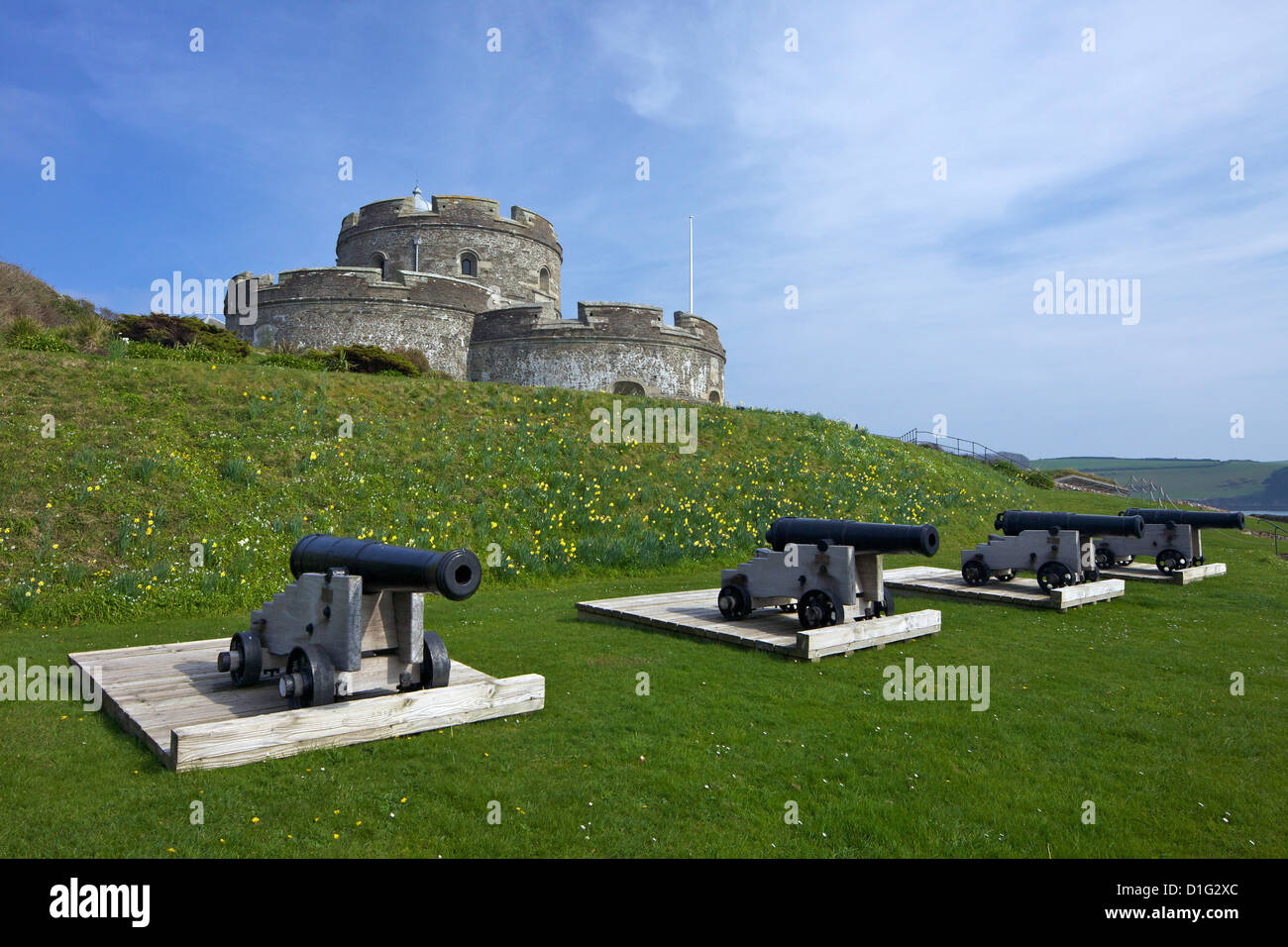 St. Mawes Castle, an artillery fortress built by Henry VIII, Cornwall, England, United Kingdom, Europe - Stock Image