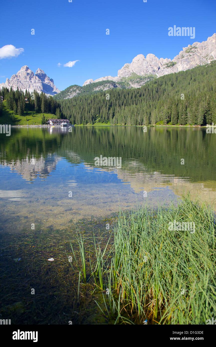 Lago di Misurina, Belluno Province, Veneto, Italian Dolomites, Italy, Europe - Stock Image