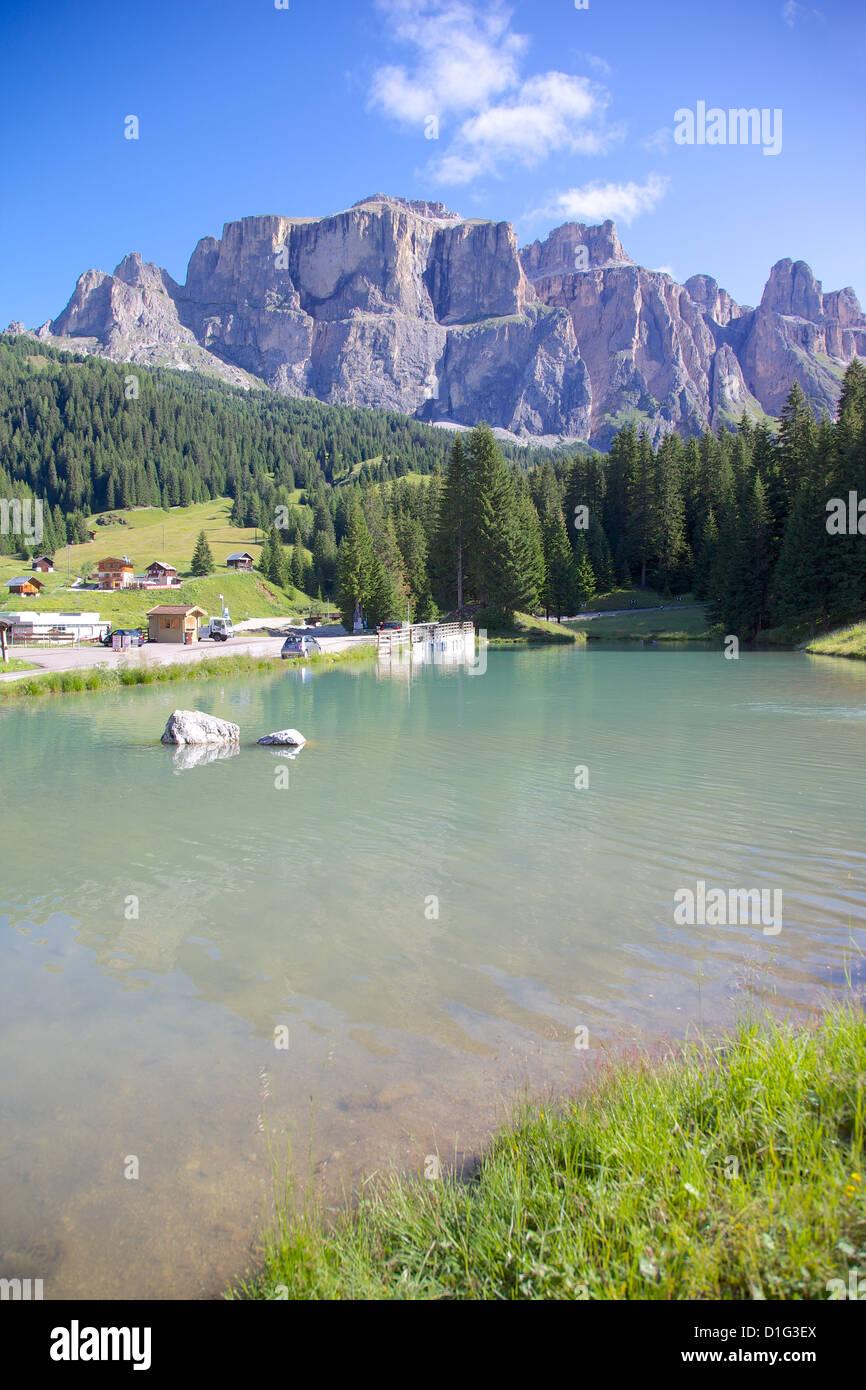 Sella Pass, Trento and Bolzano Provinces, Trentino-Alto Adige/South Tyrol, Italian Dolomites, Italy, Europe - Stock Image