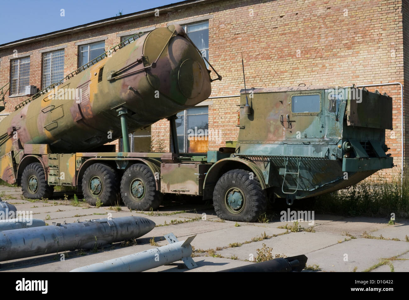 Abandoned soviet ballistic nuclear missiles launcher - Stock Image