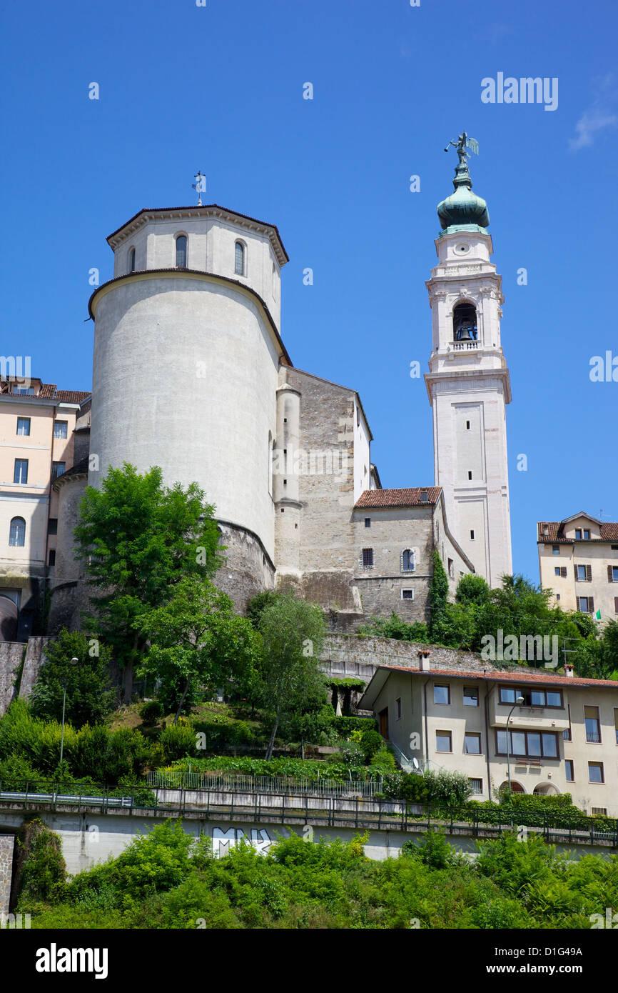 Duomo of San Martino and Juvarra bell tower, Belluno, Province of Belluno, Veneto, Italy, Europe - Stock Image