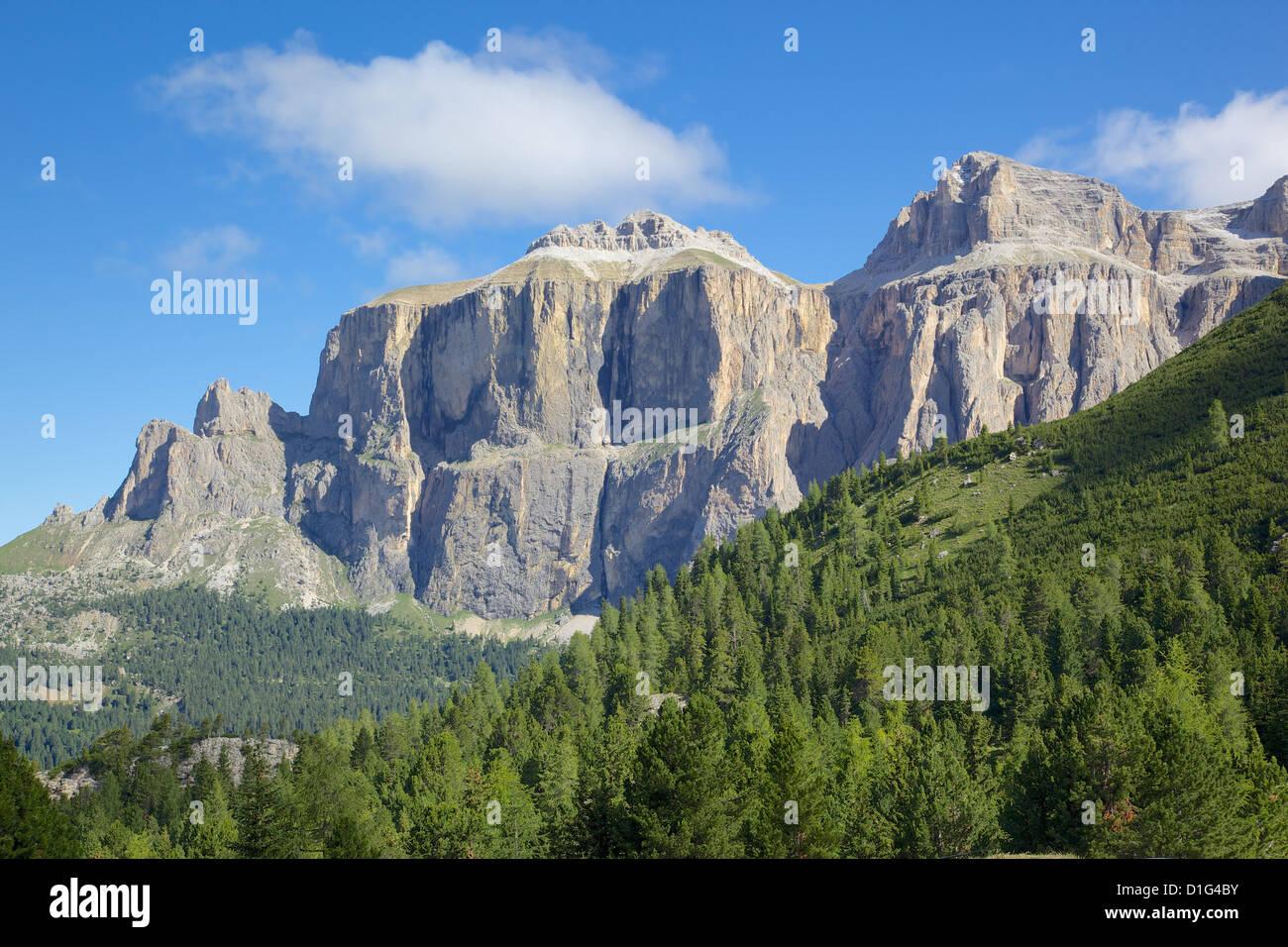 Pordoi Pass, Arabba, Belluno Province, Trento, Dolomites, Italy, Europe - Stock Image
