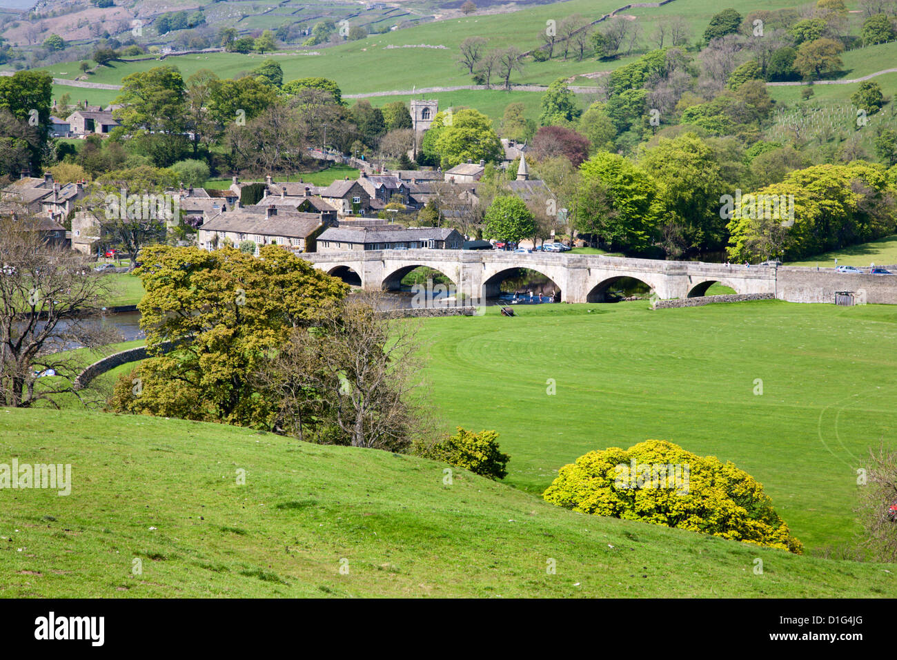 The Village of Burnsall in Wharfedale, Yorkshire Dales, Yorkshire, England, United Kingdom, Europe - Stock Image